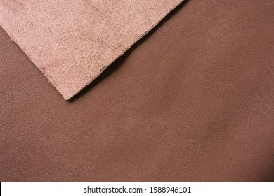 rich brown full grain leather background