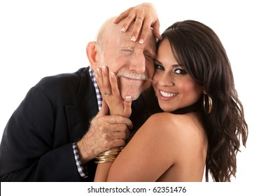 Young latina old man
