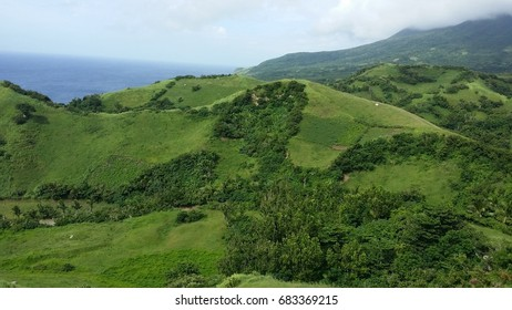 Rich green meadow in Batanes, Philippines