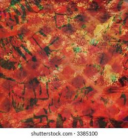 rich layered orange red texture