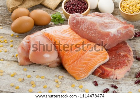 Rich Nutrient Food Fish Chicken Meat Stock Photo Edit Now