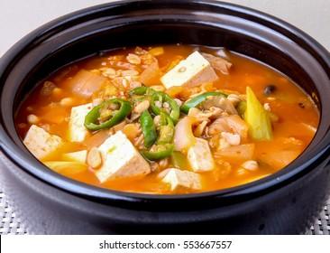 Rich Soybean Paste Stew (Cheongguk jang jjigae)