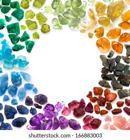 Rich variety of colorful natural gems.