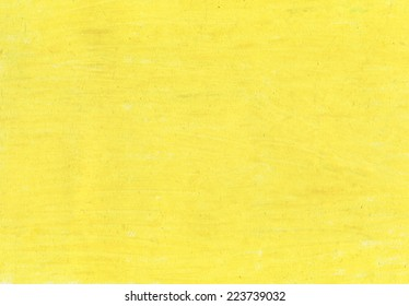 Rich yellow pastel texture on a rough paper.