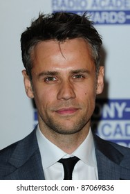 Richard Bacon arriving for the Sony Radio Academy Awards, Grosvenor House Hotel on 09/05/2011  Picture by: Simon Burchell / Featureflash