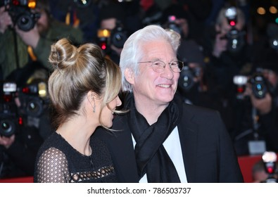 Richard Gere and Alejandra Silva on the red carpet prior the 'The Dinner' premiere during the 67th Berlinale Film Festival Berlin at Berlinale Palace on February 10, 2017 in Berlin, Germany.
