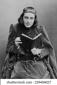 Richard Mansfield (1857-1907), American actor, as Richard III. 1889.