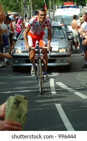Richard Virenque on the  Alpe D'Huez Time Trial Tour de France 2004