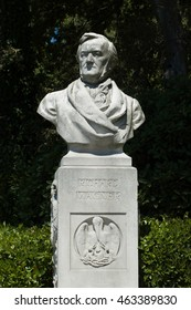 Richard Wagner stone bust in Venice