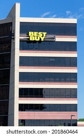 RICHFIELD, MN/USA - JUNE 21, 2014:  Best Buy corporate headquarters building. Best Buy is an American multinational consumer electronics corporation.