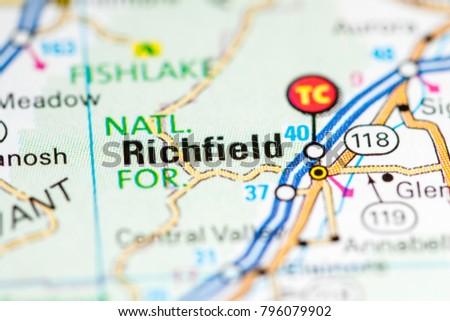 Utah In Usa Map.Richfield Utah Usa On Map Stock Photo Edit Now 796079902