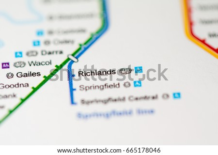 Richlands Station Brisbane Metro Map Stock Photo Edit Now