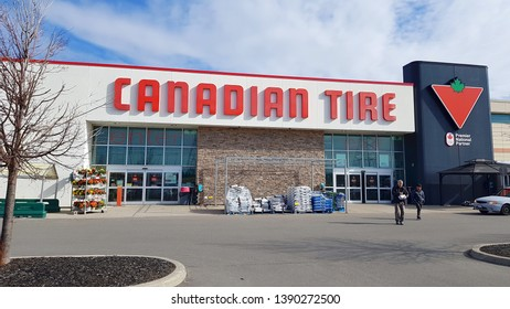 RICHMOND HILL, CANADA - APRIL 28, 2019: A Canadian Tire store exterior in Richmond Hill, Canada.