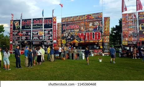 RICHMOND HILL, CANADA - JULY 29, 2018: Annual Rib Fest scene in Richmond Hill, Canada.