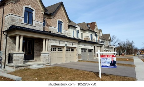 RICHMOND HILL, CANADA - MARCH 22, 2018: Newly developed residential area in Richmond Hill, Canada.