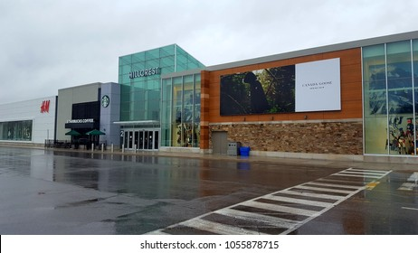 RICHMOND HILL, CANADA - MARCH 27, 2018: The exterior of the Hillcrest Mall in Richmond Hill, Canada.