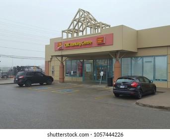 RICHMOND HILL, CANADA - MARCH 29, 2018: A CIBC bank branch in Richmond Hill, Canada.