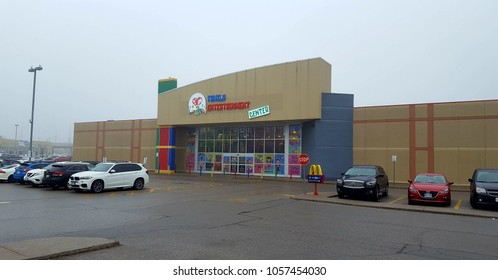 RICHMOND HILL, CANADA - MARCH 29, 2018: The exterior of the indoor playground Luv to Play in Richmond Hill, Canada.