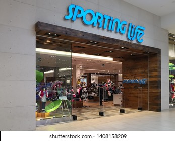 Richmond Hill, Ontario, Canada - May 04, 2019: Sporting Life  store at Hillcrest mall in Richmond Hill, Ontario, Canada. Sporting Life is a sporting goods retailer based in Toronto, Ontario, Canada