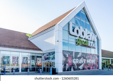 Richmond Hill, Ontario, Canada - October 30, 2018: Sign of Loblaws. Loblaws Inc. is a Canadian supermarket chain stores, a subsidiary of Loblaw Companies Limited, Canada's largest food distributor.