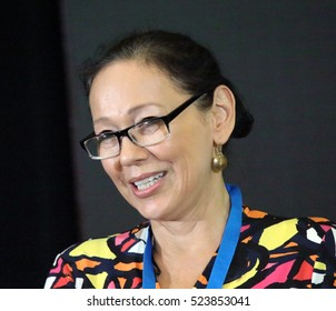 RICHMOND HILL, ONTARIO - JULY 10, 2016: Tina Keeper is an Aboriginal Canadian actress and former member of Parliament.