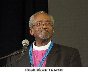 RICHMOND HILL, ONTARIO - JULY 8, 2016: Right Reverend Michael Curry is Presiding Bishop of the Episcopal Church of the United States and the first African American to hold the position.