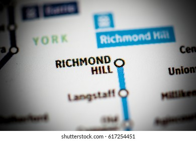 Richmond Hill Station. Toronto Metro map.