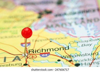 Richmond pinned on a map of USA