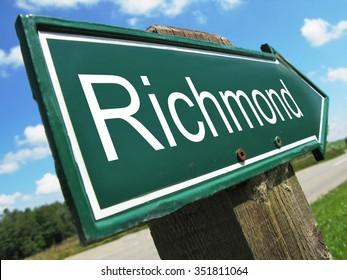Richmond road sign