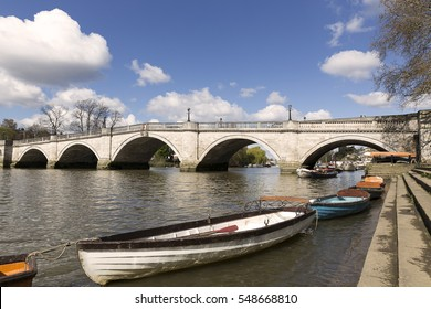 Richmond Upon Thames and bridge over the river