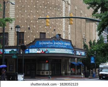 Richmond, USA - June 7, 2019: Image of the Carpenter Theater in Richmond.