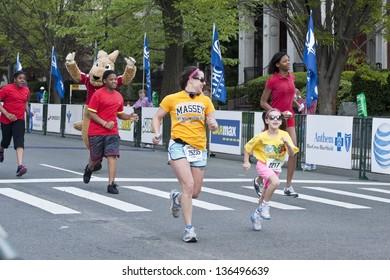 RICHMOND, VA - APRIL 13: The Virginia 529 Kids Run, April 13, 2013 - Richmond, Virginia. 1,585 children participate in the Virginia 529 Kids Run. A one-mile event for kids ages 5-12.