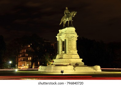 RICHMOND, VA – OCTOBER 7: Civil War monuments such as the Robert E. Lee statue on Monument Avenue represent key points of contention in contemporary U.S. politics October 7, 2017 in Richmond, VA.