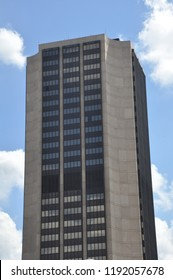 RICHMOND, VA - SEP 8: James Monroe building in Richmond, Virginia, as seen on Sep 8, 2015. It is the tallest building in Richmond at 137 meters (449 feet) and 29 floors.