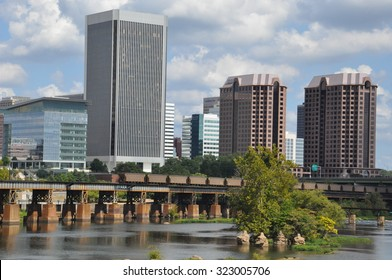 RICHMOND, VA - SEP 8: Skyline of Richmond, Virginia, as seen on Sep 8, 2015. While it was incorporated in 1742, Richmond has been an independent city since 1871.