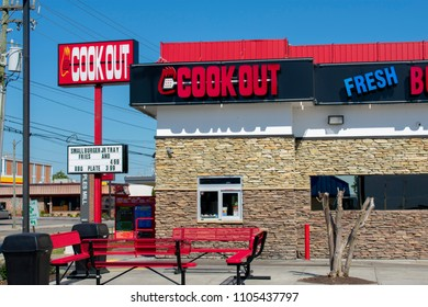 Richmond, VA / USA - May 02 2018:Cook Out Restaurant. Cook Out is a regional restaurant chain serving hamburgers, hot dogs, BBQ and milkshakes with over 200 locations in the southeast and south.
