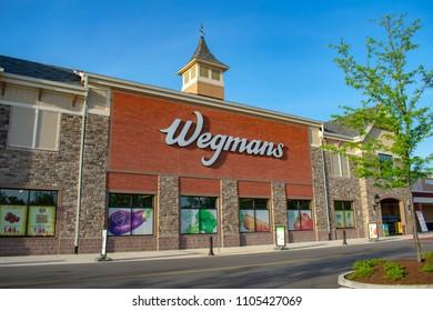 Richmond, VA/USA May 2 2018: Wegmans Grocery Store. Wegmans is a regional supermarket chain headquartered in Rochester, NY.