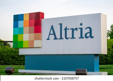 Richmond, VA/USA-May 2 2018:Altria Sign