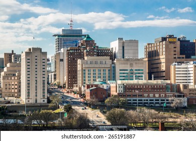 RICHMOND, VIRGINA - MARCH 28, 2015: Downtown Richmond, Virginia during late winter afternoon.