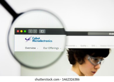 Richmond, Virginia, USA - 26 July 2019: Illustrative Editorial of Cabot Microelectronics Corporation website homepage. Cabot Microelectronics Corporation logo visible on display screen.