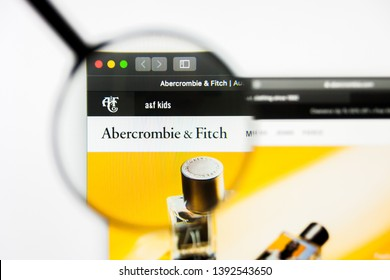 Richmond, Virginia, USA - 8 May 2019: Illustrative Editorial of Abercrombie and Fitch Company website homepage. Abercrombie and Fitch Company logo visible on display screen.