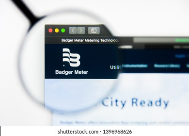 Richmond, Virginia, USA - 9 May 2019: Illustrative Editorial of Badger Meter Inc website homepage. Badger Meter Inc logo visible on display screen.