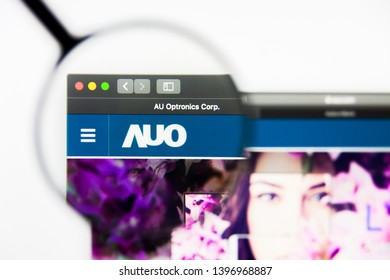 Richmond, Virginia, USA - 9 May 2019: Illustrative Editorial of AU Optronics Corp website homepage. AU Optronics Corp logo visible on display screen.
