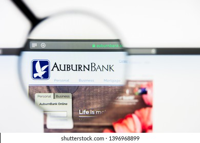 Richmond, Virginia, USA - 9 May 2019: Illustrative Editorial of Auburn National Bancorporation Inc website homepage. Auburn National Bancorporation Inc logo visible on display screen.