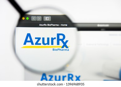 Richmond, Virginia, USA - 9 May 2019: Illustrative Editorial of AzurRx BioPharma Inc website homepage. AzurRx BioPharma Inc logo visible on display screen.