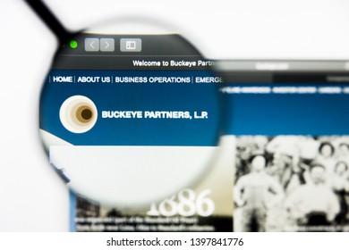 Richmond, Virginia, USA - 9 May 2019: Illustrative Editorial of Buckeye Partners LP website homepage. Buckeye Partners LP logo visible on display screen.