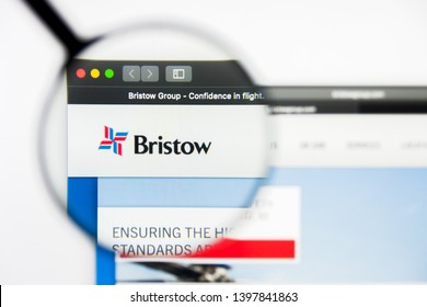 Richmond, Virginia, USA - 9 May 2019: Illustrative Editorial of Bristow Group Inc website homepage. Bristow Group Inc logo visible on display screen.