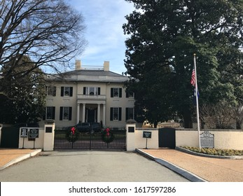 Richmond, Virginia - USA: December 28, 2019:  The Virginia Governor's Mansion, better known as the Executive Mansion, the oldest occupied governor's mansion in the United States
