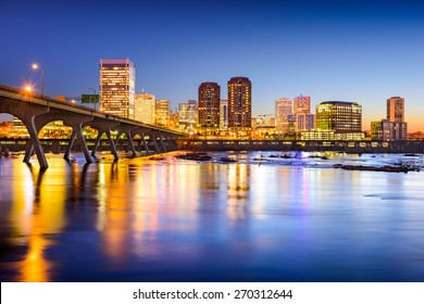 Richmond, Virginia, USA downtown city skyline.