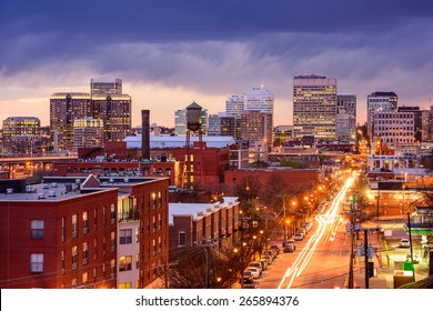 Richmond, Virginia, USA downtown cityscape over Main Street.